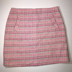 Halogen Straight Pink Patterned Pencil Skirt